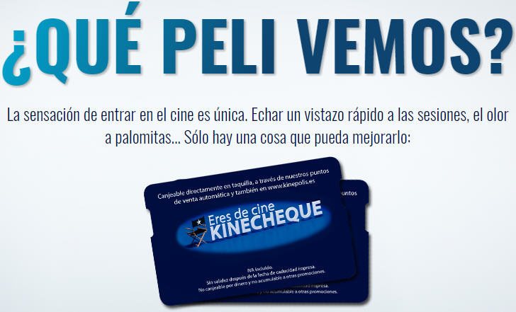 Kinecheques Kinepolis