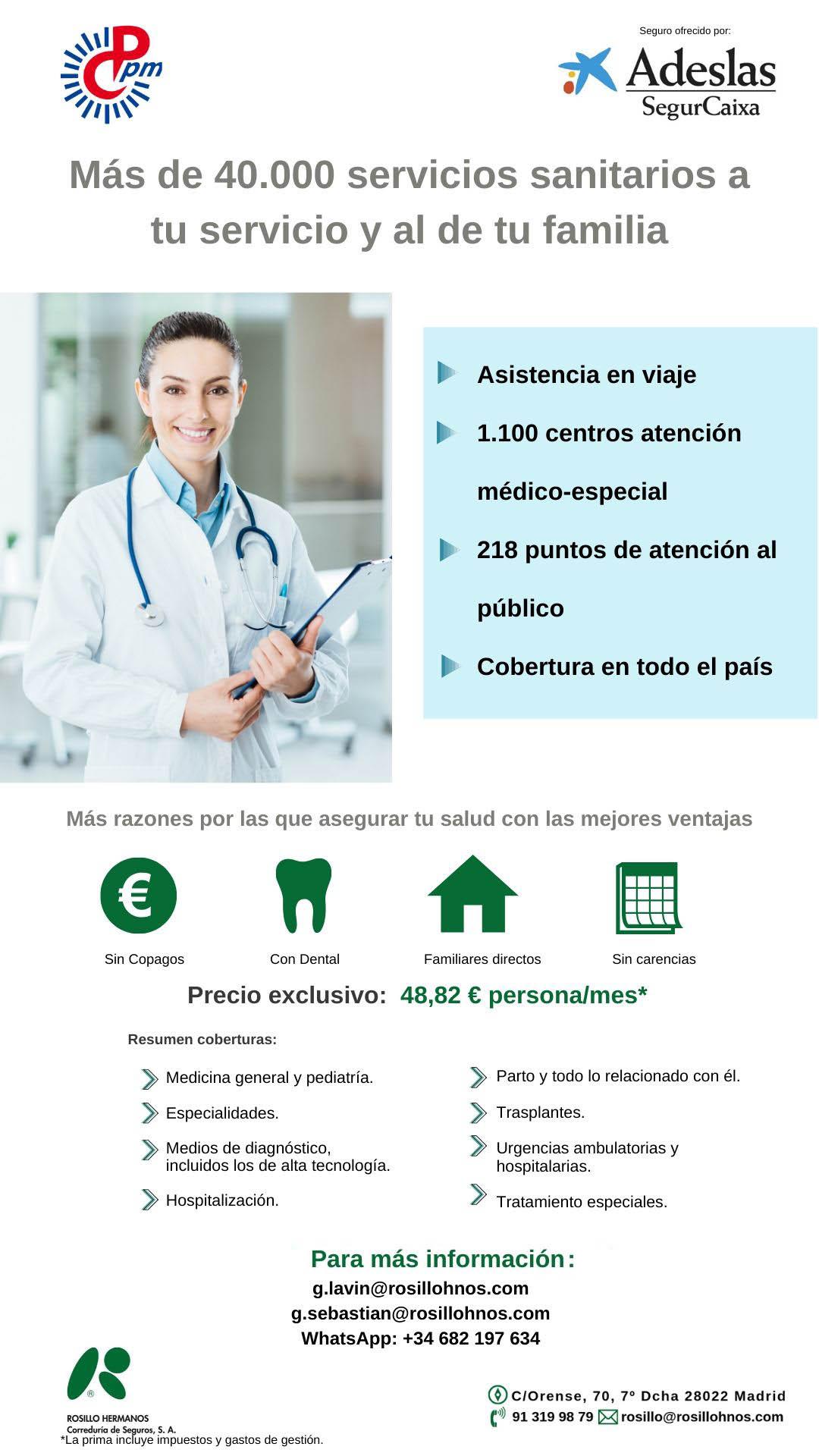 Seguro Salud Adeslas Segurcaixa