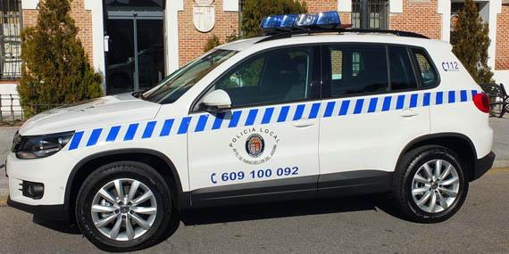 Policía local PAracuellos de Jarama coche