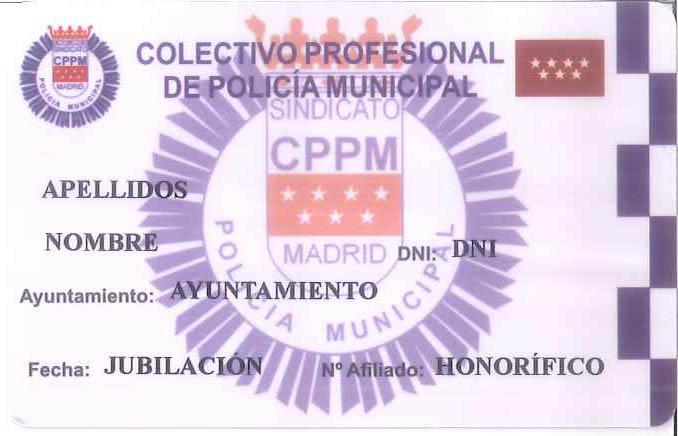Carnet Honorífico afiliado CPPM