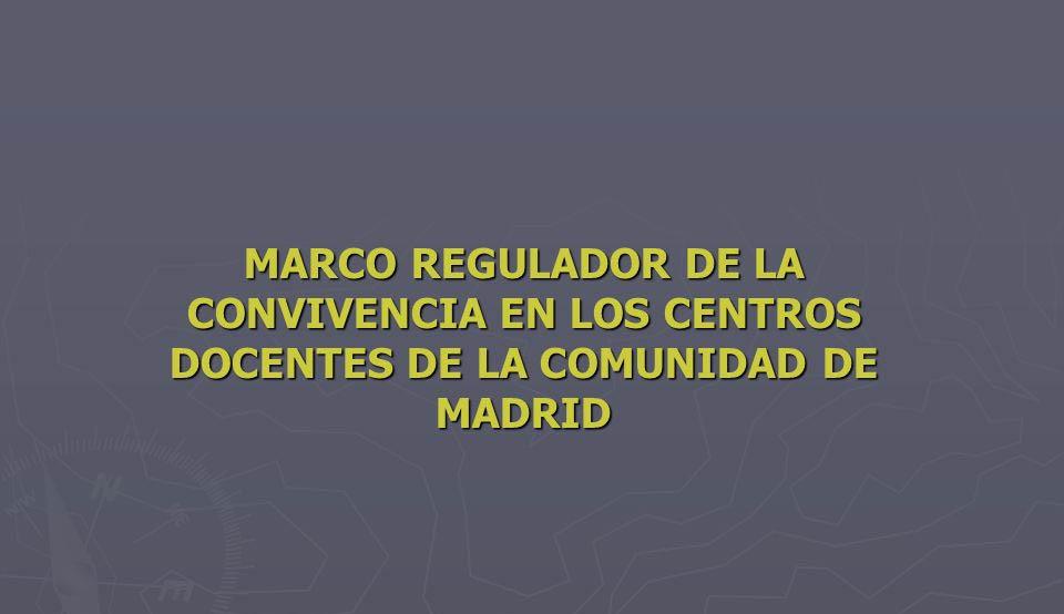 Marco regulador convivencia centros docentes de la Comunidad Madrid
