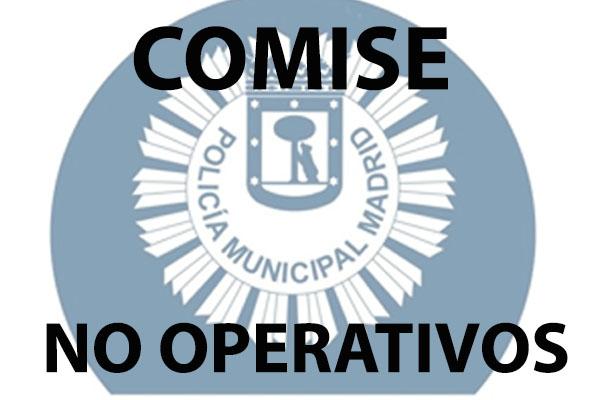COMISE no operativos Policía Municipal Madrid