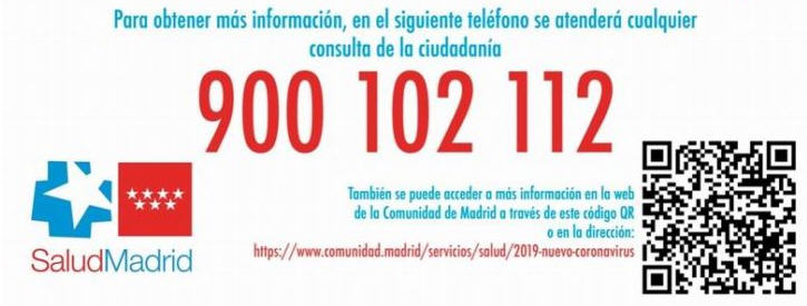 900102112 Coronavirus Comunidad Madrid