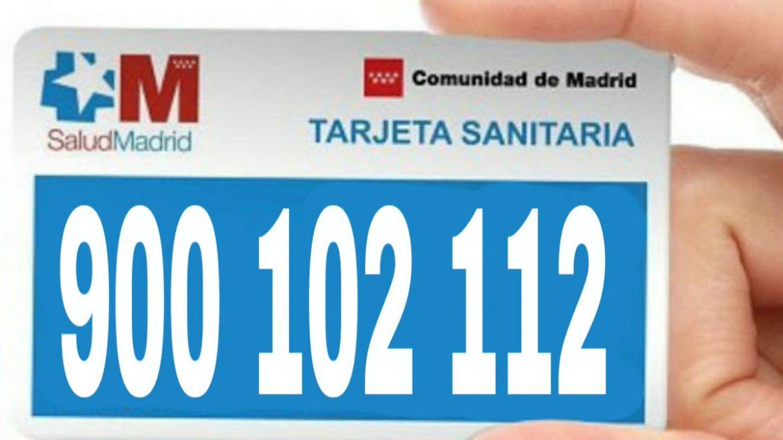 900102112 Teléfono información coronavirus Comunidad Madrid