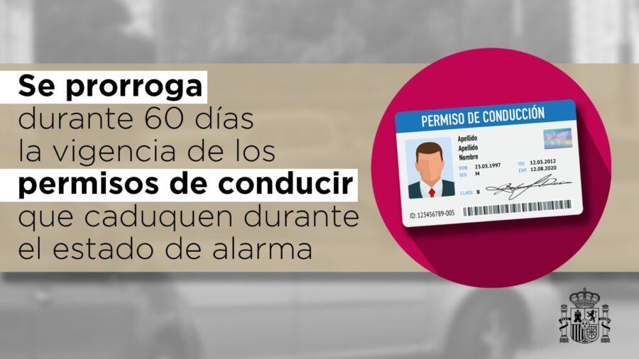 Prorroga permisos conducción Estado Alarma