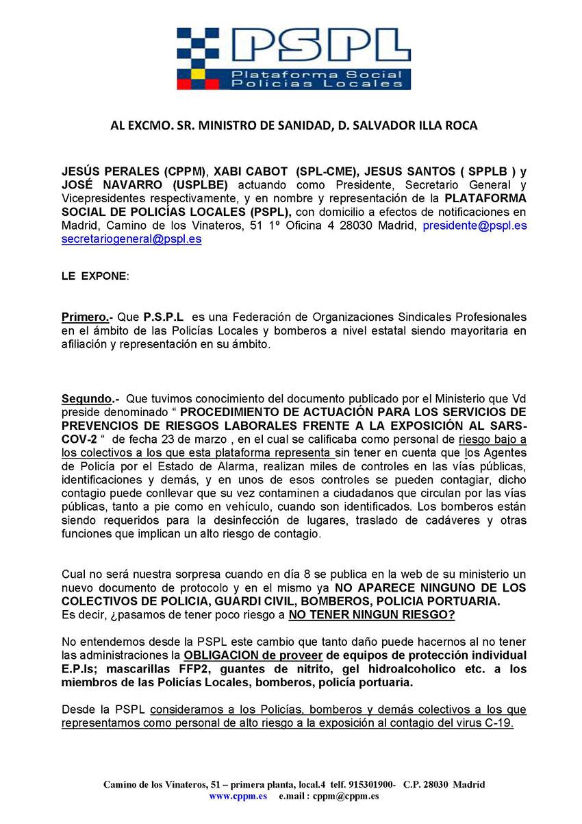 Solicitud inclusión personal alto riesgo covnd-19 pspl