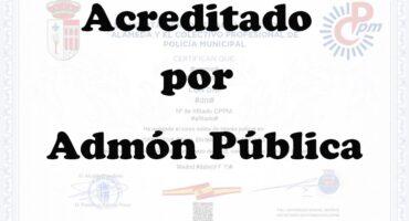 Diploma acreditado por Admón Pública