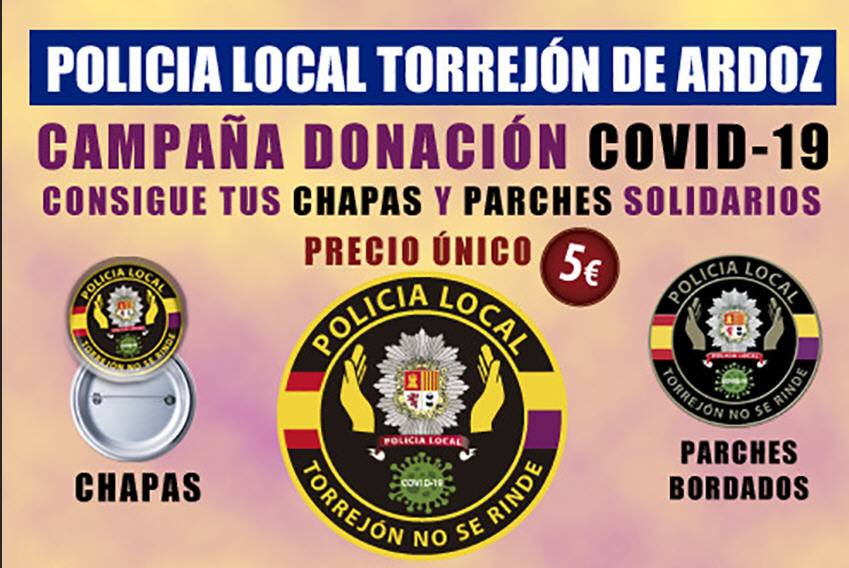 Campaña solidaria Policía local Torrejón Ardoz COVID-19