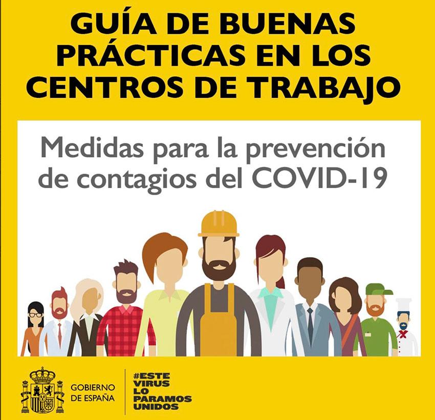 Guía de buenas prácticas en los centros de trabajo frente al #COVID19