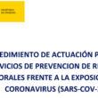 Actuación Servicios de Prevencion riesgos laborales COVID-19