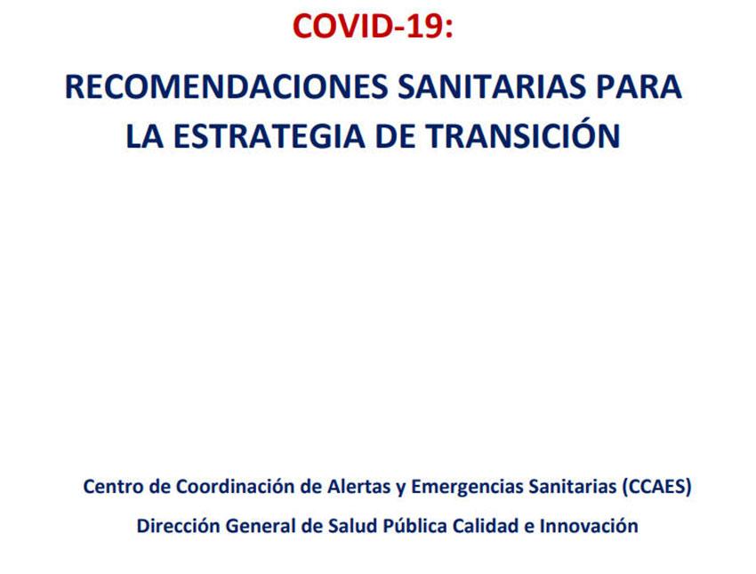 Recomendaciones sanitarias para la estrategia de transición COVI-19