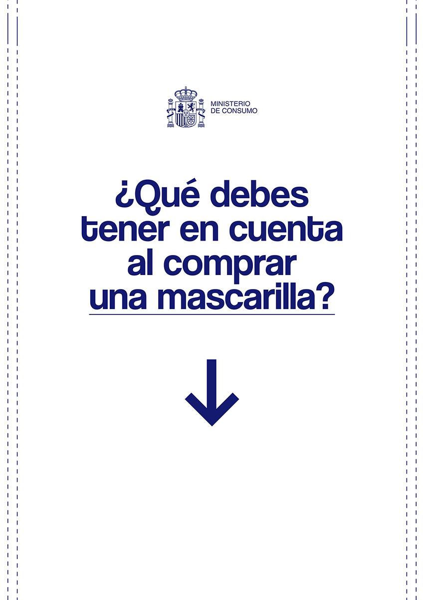 Guía compra mascarillas Ministerio Consumo