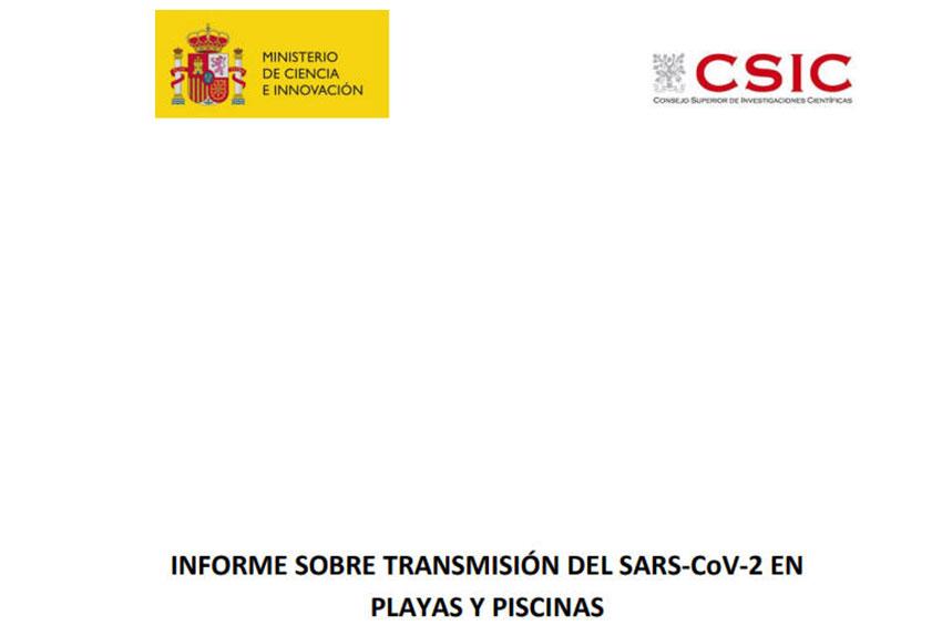 Informe CSIC transmisión COVID-19 playas y piscinas