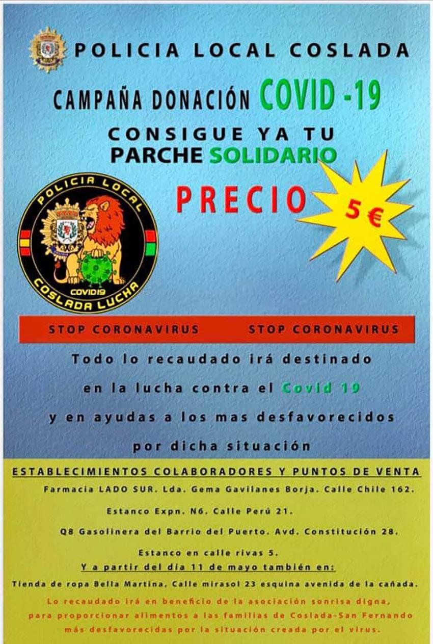 Parches solidarios contra el COVID-19 CPPM Coslada