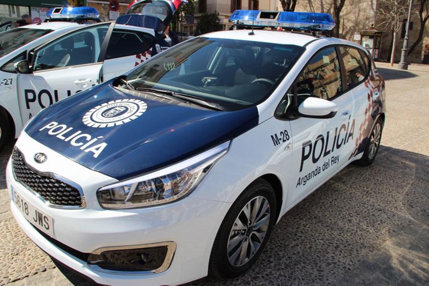Policía local Arganda del Rey coche