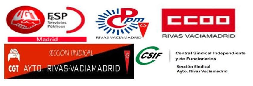 Logos secciones sindicales Ayto Rivas-Vaciamadrid