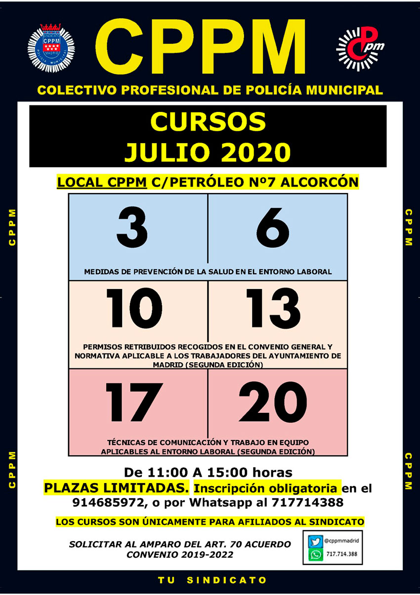 Cursos julio 2020 CPPM Madrid