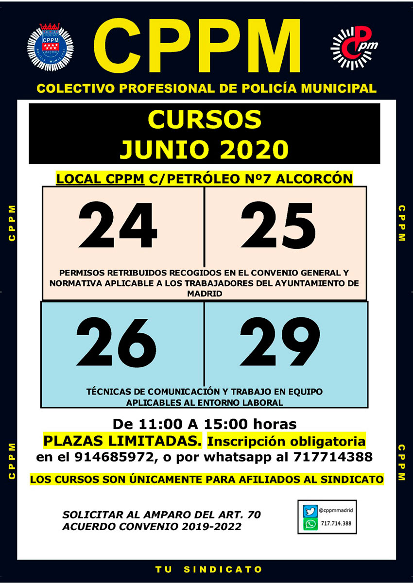 Cursos junio 2020 CPPM Madrid