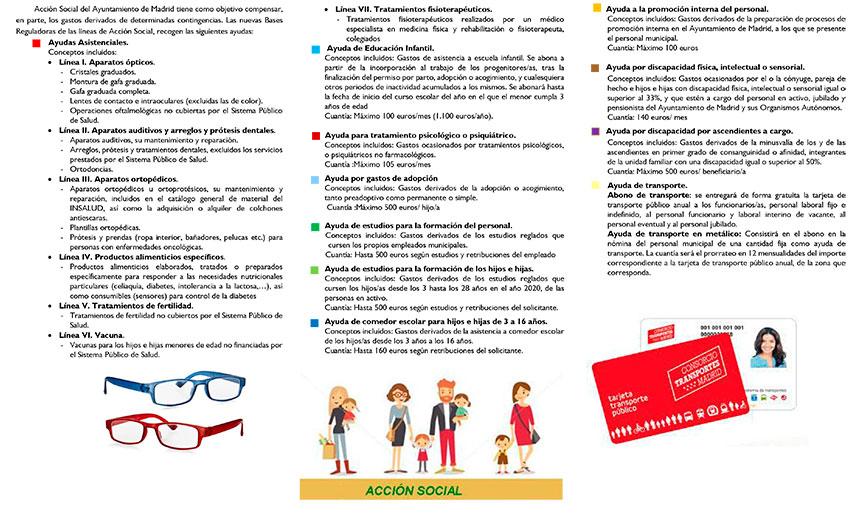Folleto acción social 2020 Ayto Madrid