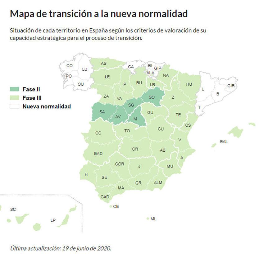 Mapa nueva normalidad 19 junio 2020