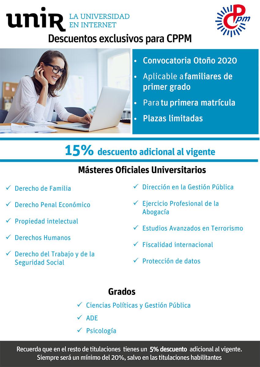 UNIR Curso 2020-2021 afiliados CPPM