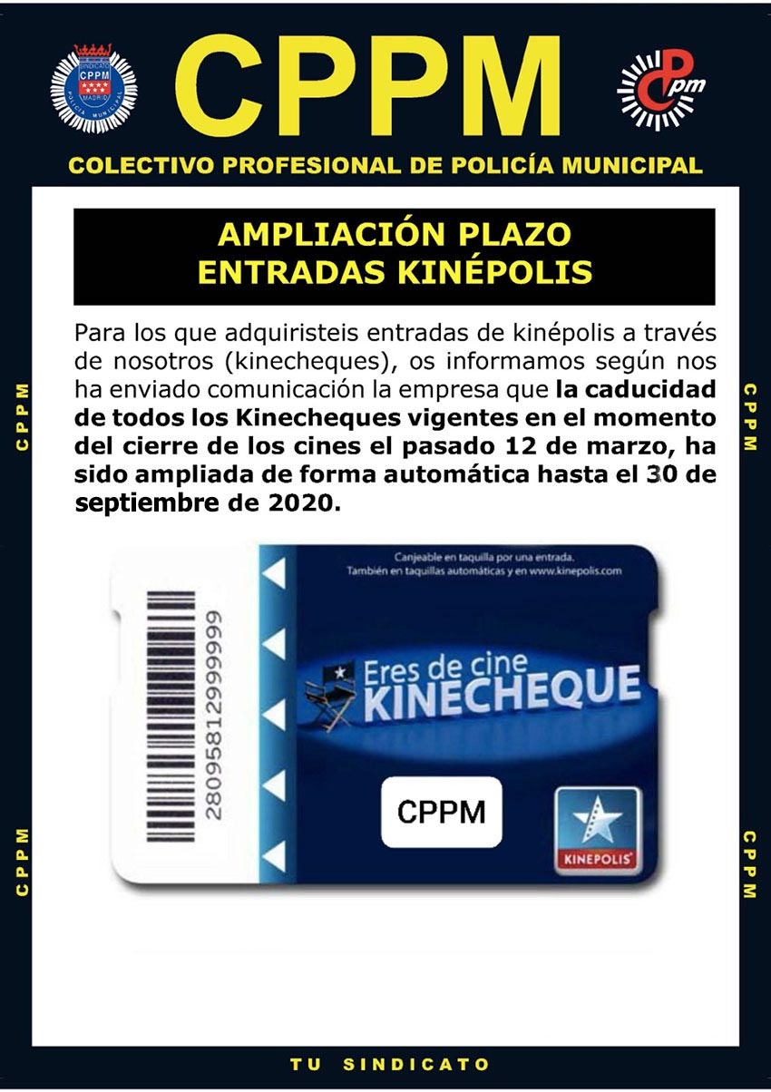 Ampliación entradas kinepolis