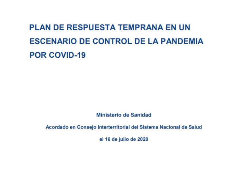 Plan respuesta temprana escenarui de control de pandemia por COVID-19