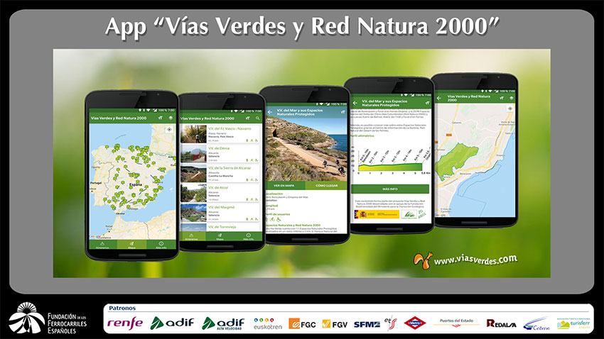 Vías verdes app