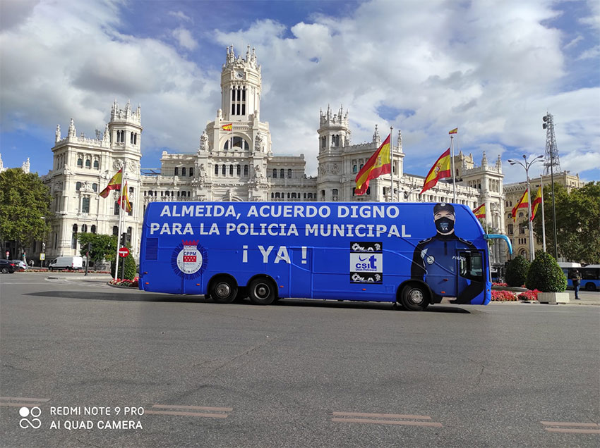 autobús reinvindicativo policía municipal madrid