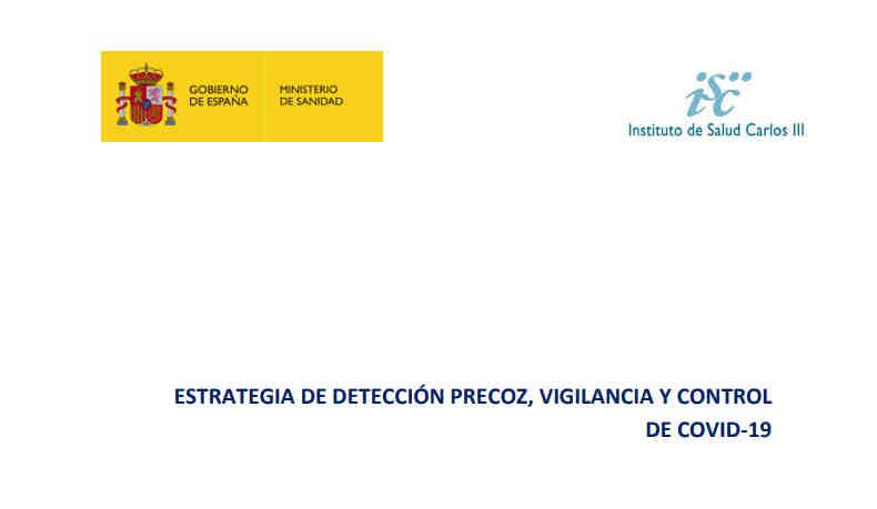 Estrategia detección precoz, vigilancia y control COVID-19