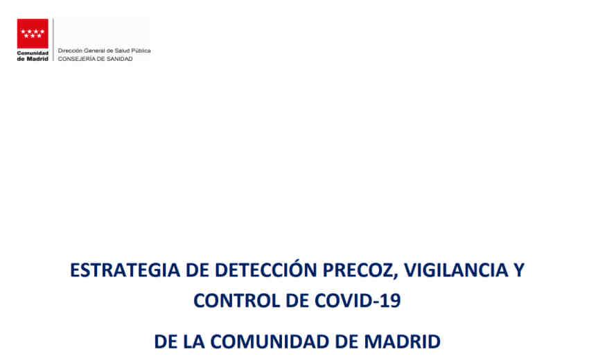 Estrategia detección precoz, vigilancia y control COVID-19 Comunidad Madrid