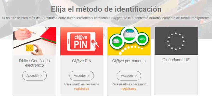 Métodos de identificación online
