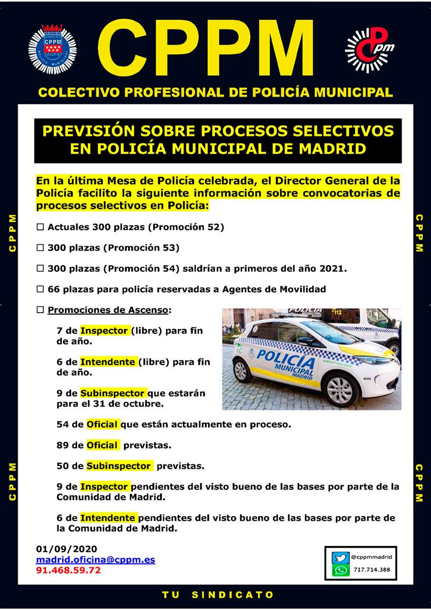 Procesos selectivos Policía Municipal Madrid