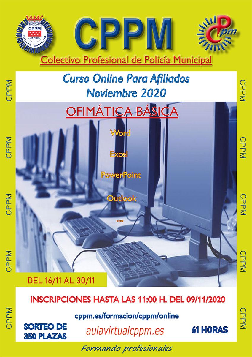 Ofimática básica CPPM online Word, escel, PowerPoint, Outlook