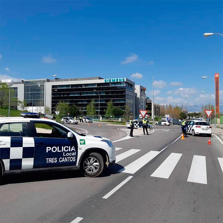 Policía local Tres Cantos control