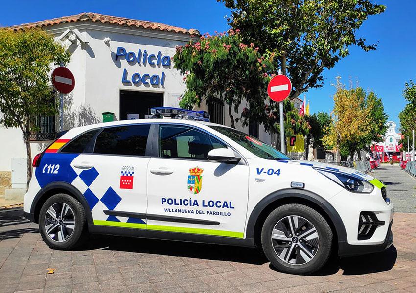 Policía local Villanueva del Pardillo coche