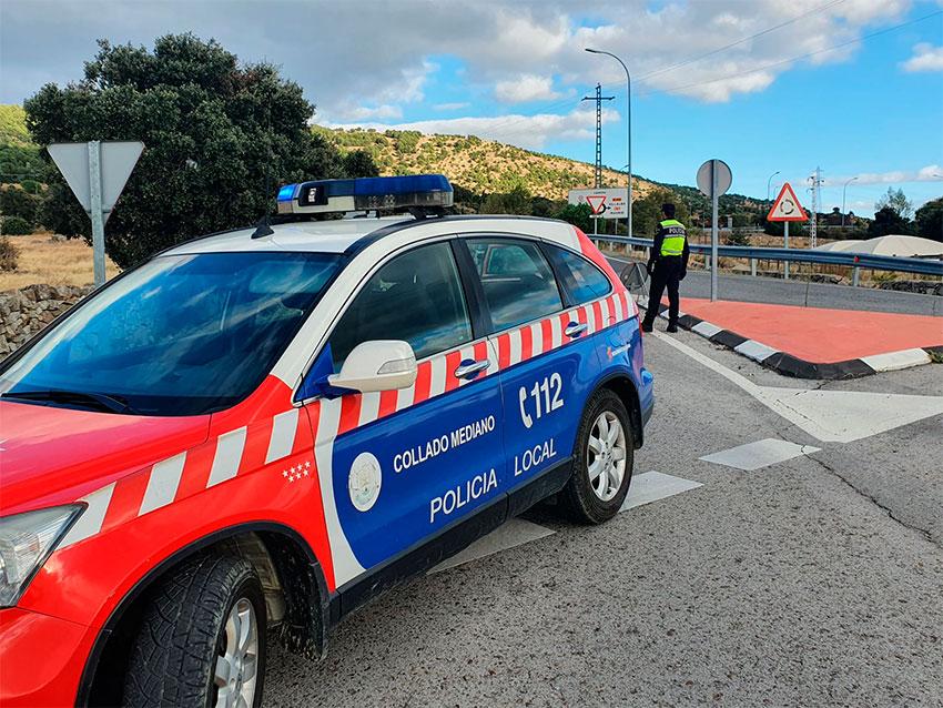 Control policía local Collado Mediano
