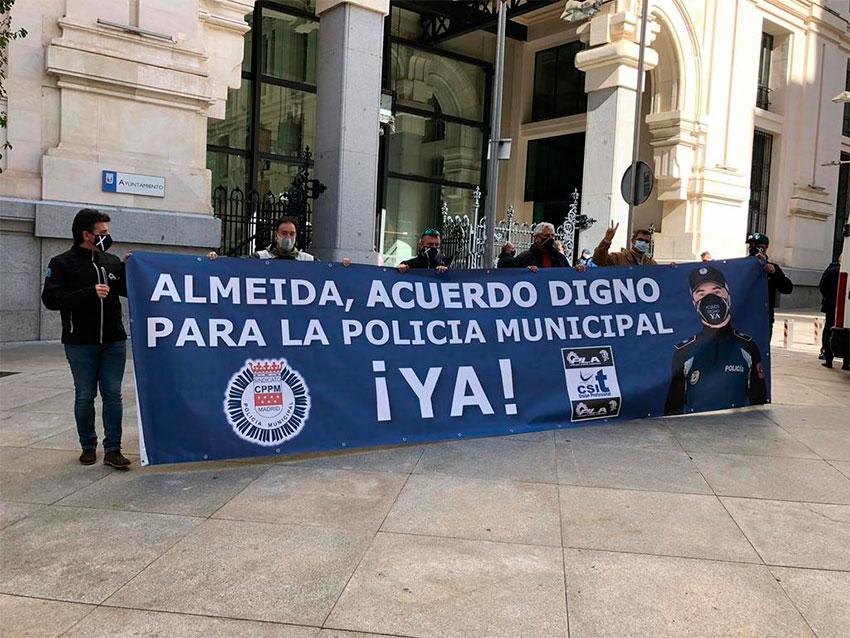 Protesta CPPM Madrid frente al Ayto 27 octubre 2020