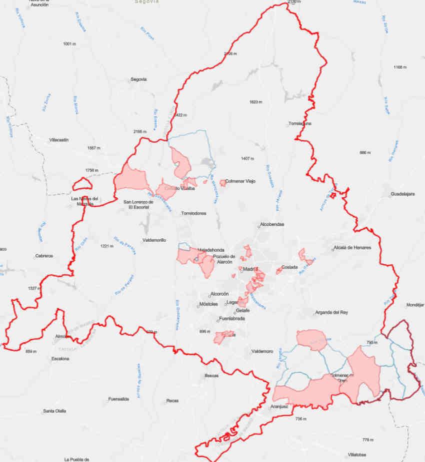 Mapa restricciones comunidad de Madrid