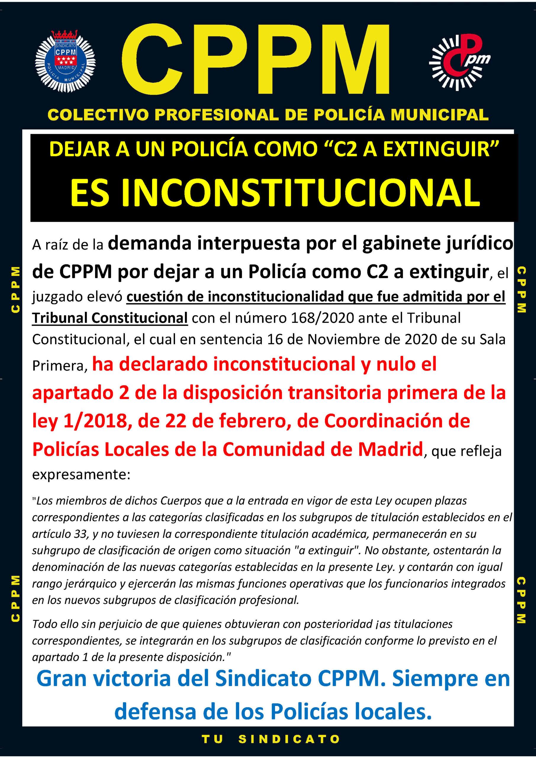 Sentencia Inconstitucional c2 a extinguir policias locales