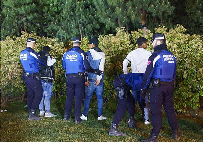 Intevención policial Seguridad ciudadana Policía Municipal Madrid