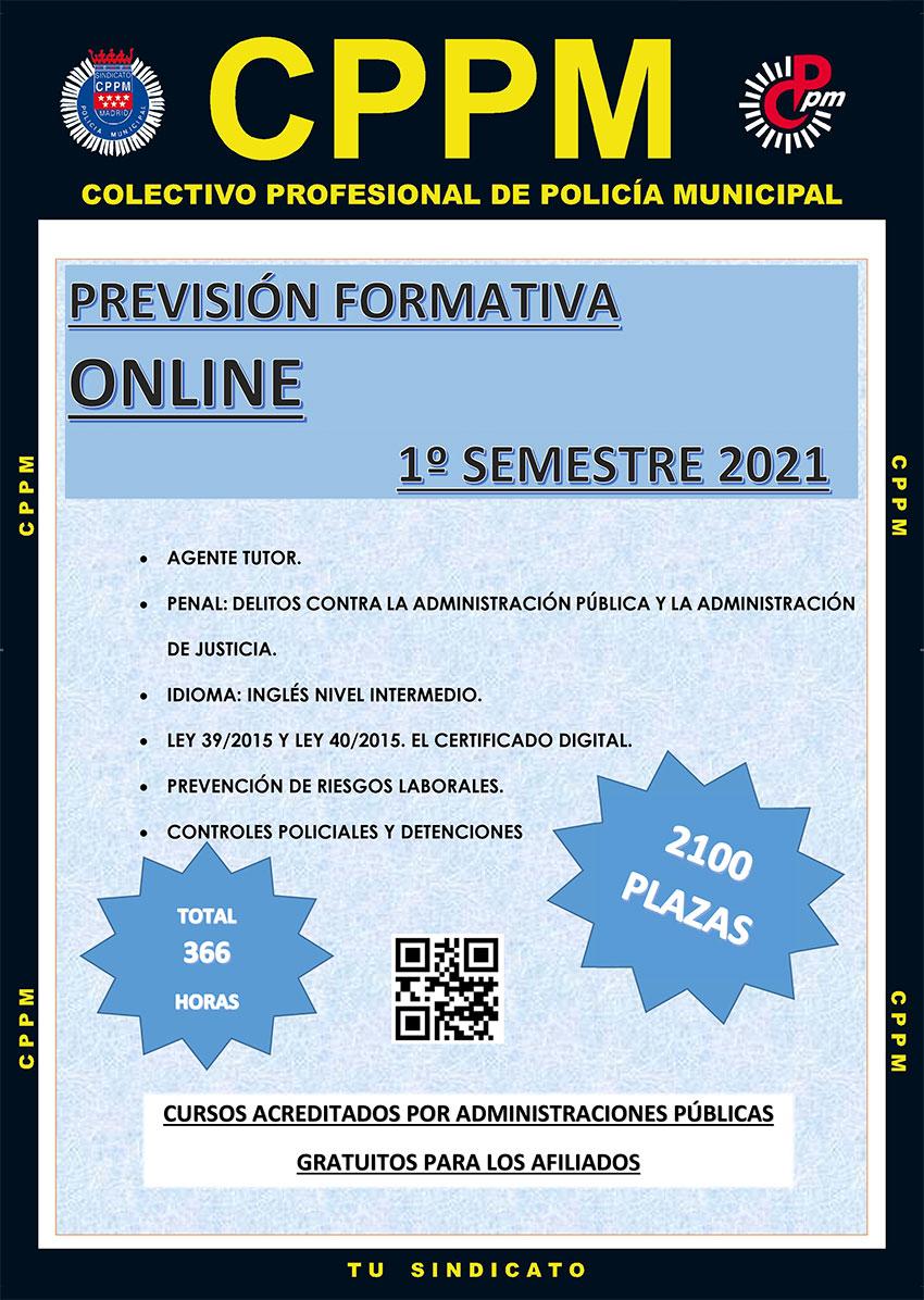 Previsión formativa cursos online primer semestre 2021 cppm