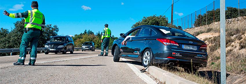 Accidente carretera guardia civil