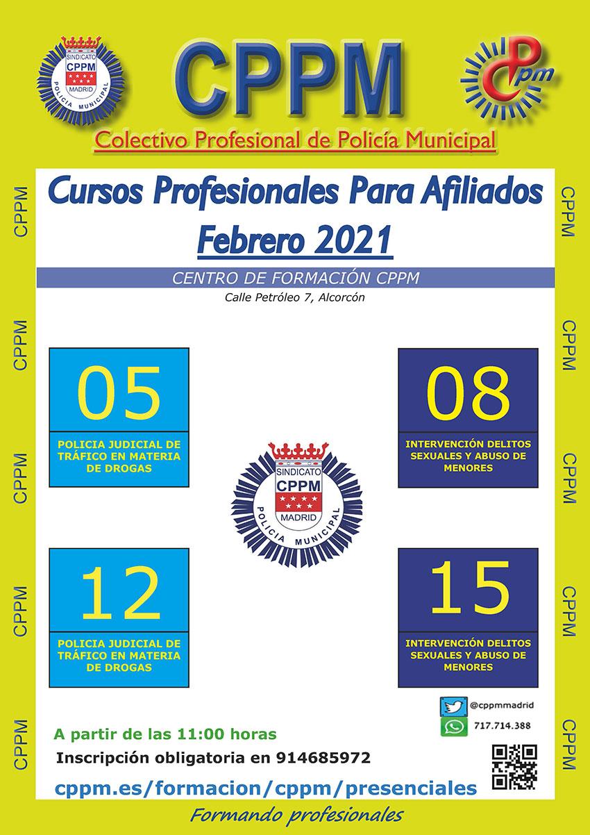 Cursos presenciales febrero 2021 CPPM
