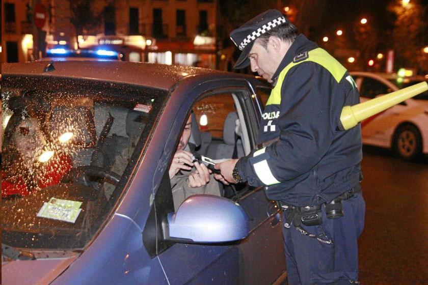 Control alcoholemia policía local