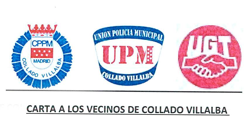 Comunicado de la Policía Local de Collado Villalba sobre las declaraciones del concejal de Personal, Bernardo Arroyo