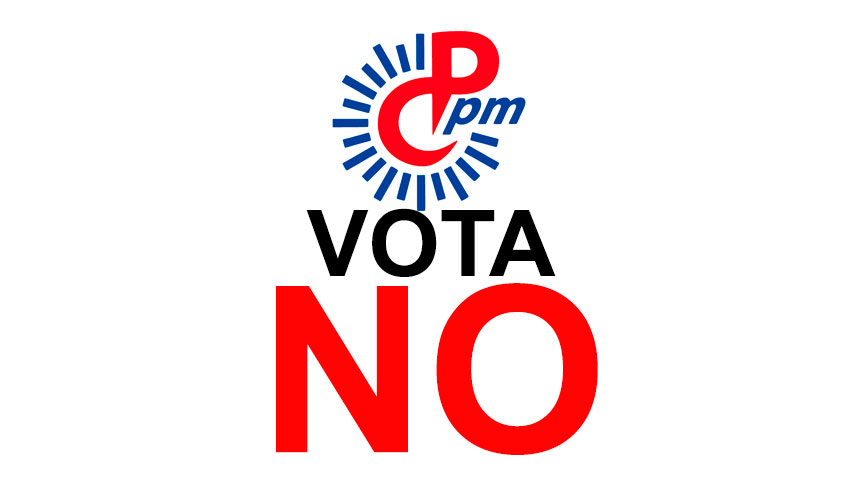 CPPM vota NO