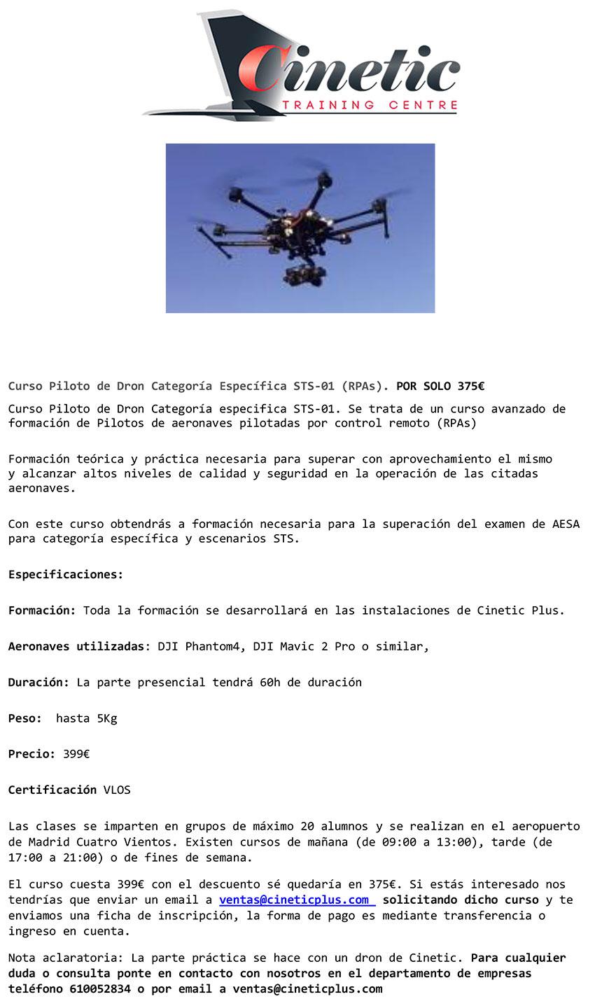 Curso piloto DRONES CInetic CPPM