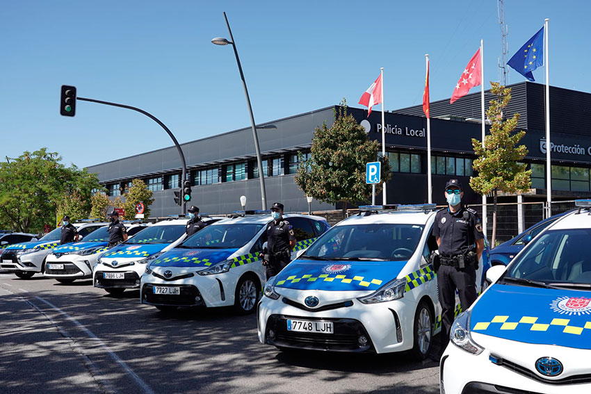 Policía local San Sebastián de los Reyes coches