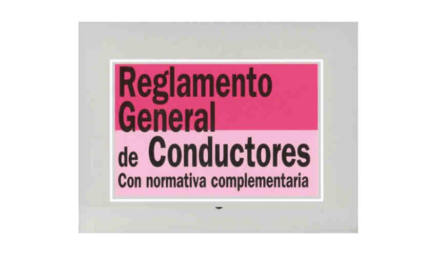 Reglamento General Conductores